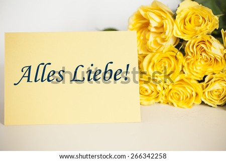 """""""All the best"""" (german) - stock photo"""