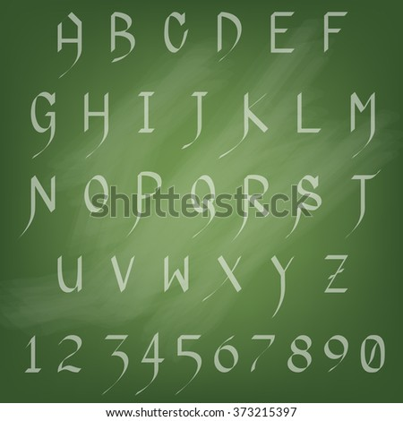 Alphabet Set A - Z and Number 0 - 9