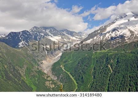 Alps, region of France, Italy, Switzerland / The Alps are the highest and most extensive mountain range system that lies entirely in Europe