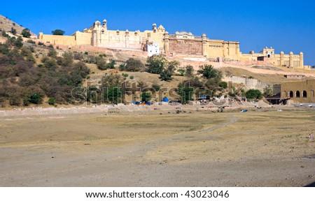 Amber Fort, Jaipur, Rajasthan, India. - stock photo