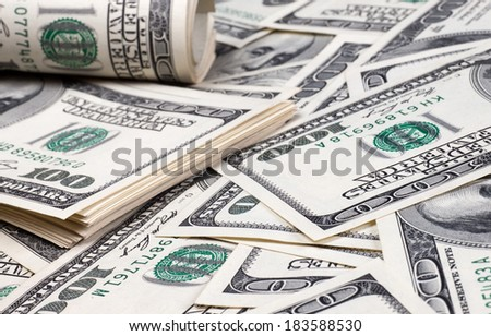 American dollar bills closeup