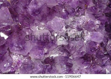 amethyst crystal structure - stock photo