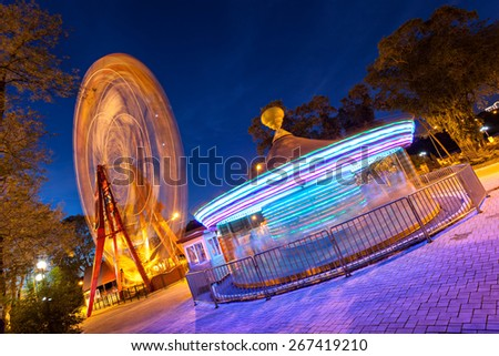 Amusement Park in Donetsk. Ukraine - stock photo