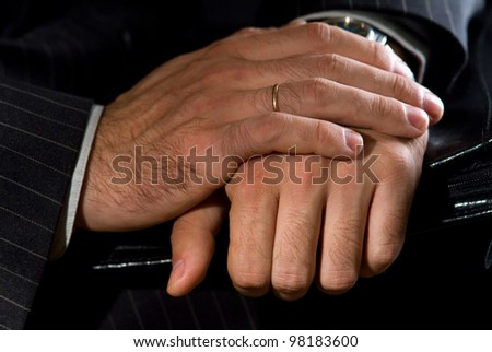 An image of a business mans hand