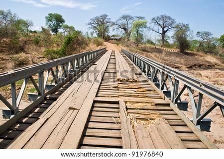 Ancient Bridge - stock photo