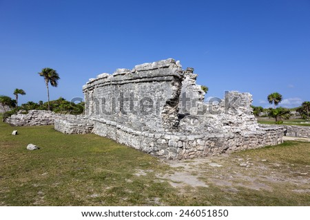 Ancient ruins of Tulum, Mexico - stock photo