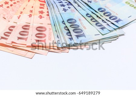 100 1000 Taiwan Dollar Bank Note Stock Photo Royalty Free