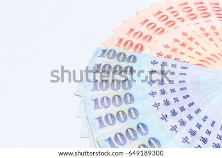 100 1000 Taiwan Dollar Bank Note Stock Photo 100 Legal Protection