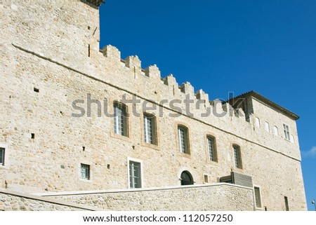 Antibes city, architecture - Castle Garibaldi, France