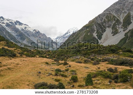 Aoraki Mount Cook National Park - stock photo