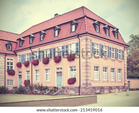 1910 Apartment Building In The City Of Speyer Germany Toned Filtered Image A