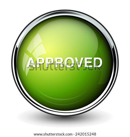 approved  button  - stock photo