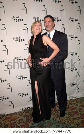 15APR2000: Actress SHARON STONE & husband PHIL BRONSTEIN at the Gay & Lesbian Alliance Against Defamation (GLAAD) Awards in Los Angeles.                   Paul Smith/Featureflash - stock photo