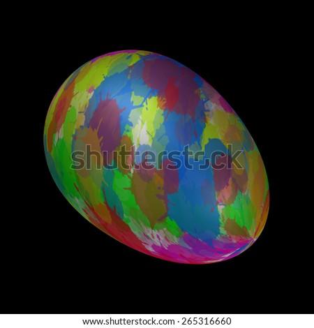 April Easter Eggs - stock photo