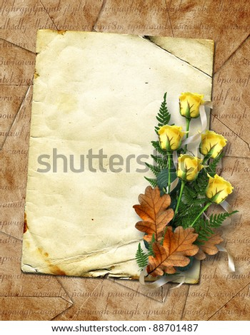 ?ard for greeting or invitation on the vintage background. - stock photo