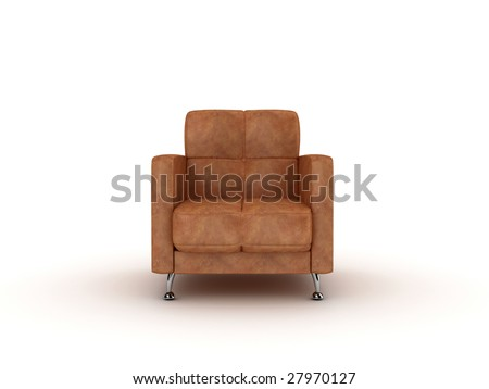 armchair over the white - stock photo
