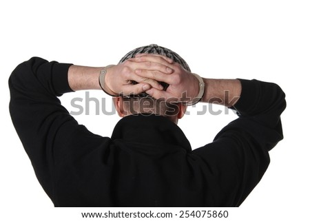 Arrested - stock photo