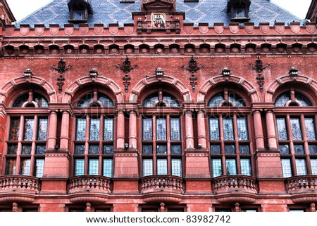 Artus Court in a old city in Torun, Poland. - stock photo