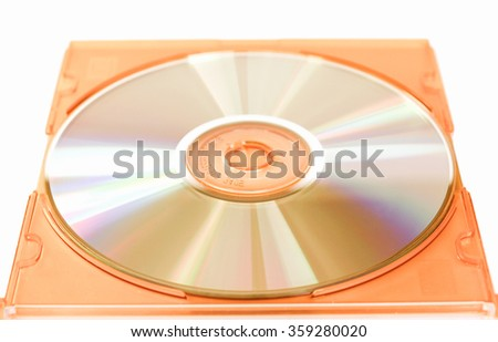 Audio cd for music or data vintage - stock photo