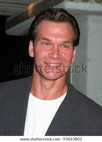 "06AUG97:  Actor PATRICK SWAYZE at the premiere,  in Los Angeles, of Demi Moore's new movie, ""G.I. Jane."""