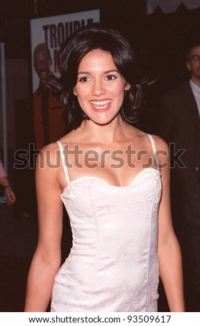 "10AUG99: ""Sunset Beach"" star PRISCILLA GARITA at the Los Angeles premiere of  ""Bowfinger"" which stars Eddie Murphy & Steve Martin.  Paul Smith / Featureflash - stock photo"