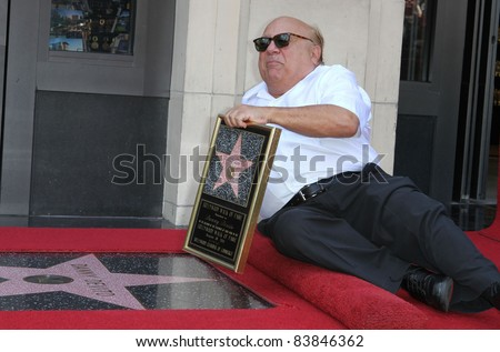 18 August 2011 - Hollywood, California - Danny DeVito. Danny DeVito Honored On The Hollywood Walk Of Fame Held On Hollywood Blvd. Photo Credit: Kevan Brooks/AdMedia