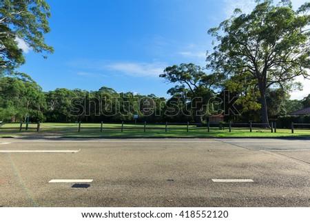 Australia, no urban roads - stock photo