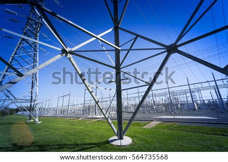 Australia, the front wall of a large substation