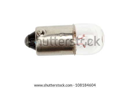 Auto bulb T4W. Isolated with clipping path.