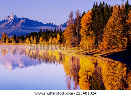 Autumn in Grand Teton National Park, Wyoming - stock photo