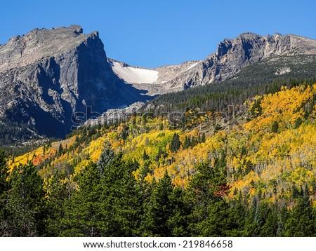 Autumn In Rocky Mountain National Park                          - stock photo
