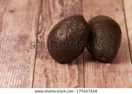 2 Avocados - stock photo