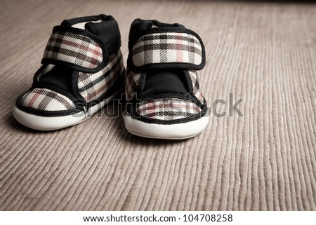 ?baby shoes - stock photo