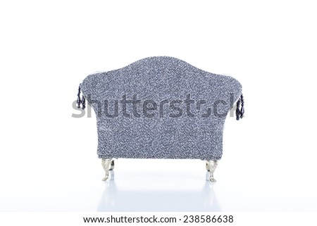 Back of modern Jeweler sofa - stock photo