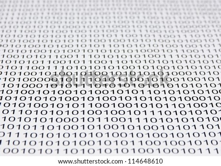 background of a binary code - stock photo