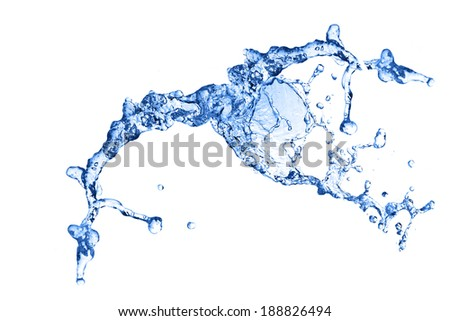 background of small bubbles water. close up - stock photo