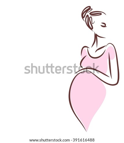 background with a pregnant woman