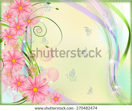 Background with flowers . - stock photo