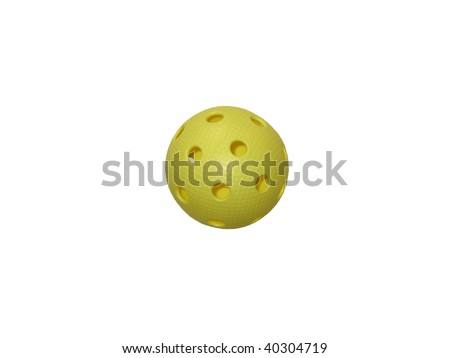 ball game Floorball - stock photo