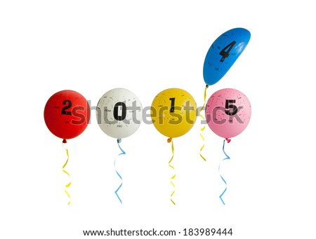 2015 Balloons - stock photo