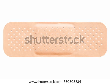 Band aid isolated over a white background vintage - stock photo
