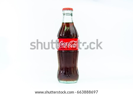 Bangkok, Thailand.June 21, 2017: Cocacola drinks are popular drinks around the world.Thailand