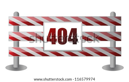 404 barrier illustration design over white background - stock photo