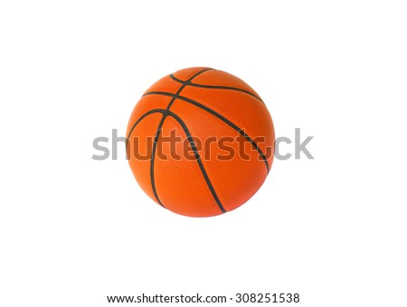 1 Basketball isolated on a white background - stock photo