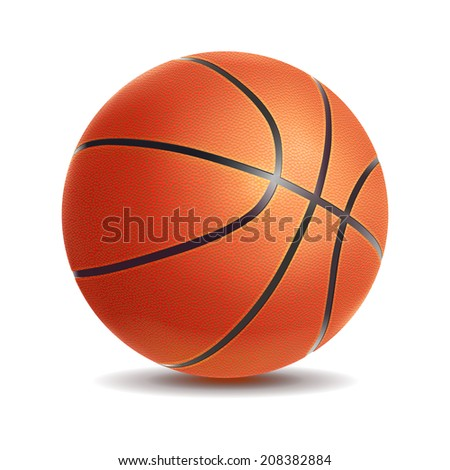Basketball isolated on a white background. Sport symbol - stock photo