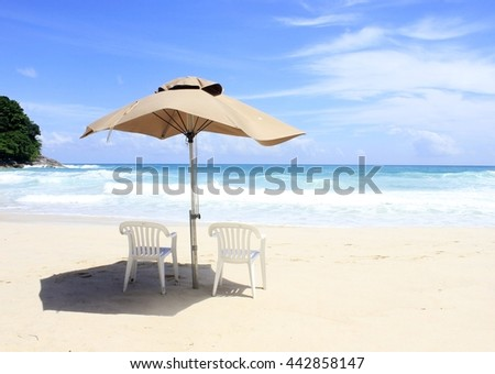 beach, background, summer, blue sky, sea, white sand summer holiday, sunshineday ,horizon