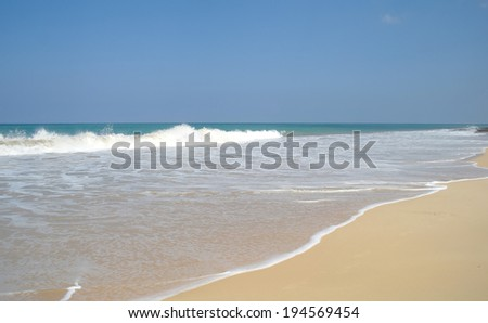 beach on Sri lanka coast - stock photo