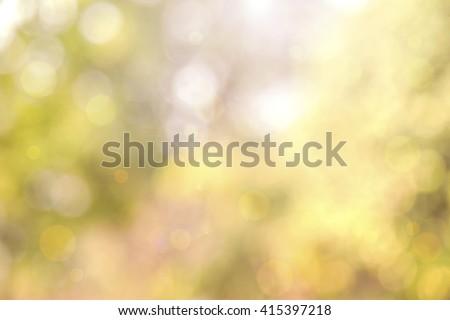 Beautiful autumn background and sunlight bokeh - stock photo