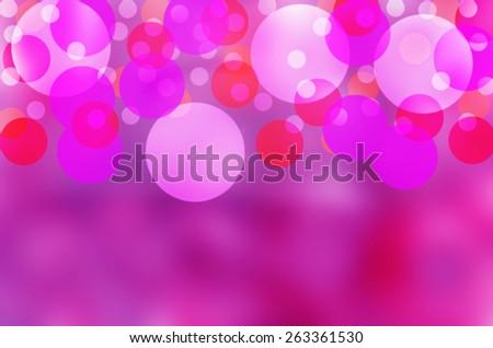 Beautiful bubbles effect illustration  showing a vibrant purple background - stock photo