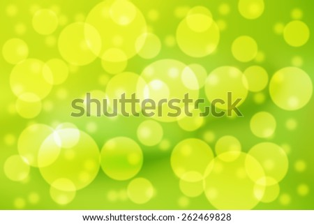 Beautiful bubbles effect showing a vibrant yellow and green background - stock photo